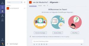 Startseite MS Teams